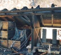 Schuppen in Brand