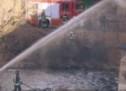 Brand unter Talferbrücke