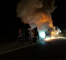 Pkw in Flammen