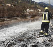Böschungsbrand in Waidbruck