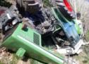 Abgerutschter Traktor