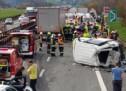 Massen-Crash auf der A22