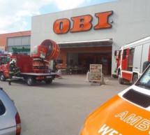 Gasaustritt im OBI