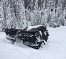 Unfall mit Schneekatze