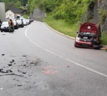 Crash auf Sarner Straße