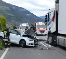 Unfall auf Vinschger Straße
