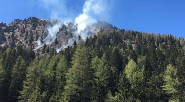 Waldbrand in Passeier
