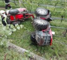 Traktorunfall endet glimpflich
