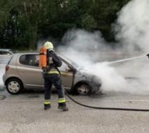 Auto in Flammen