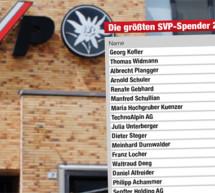 Die SVP-Spender
