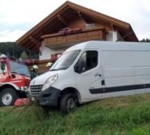 Lieferwagen in Not