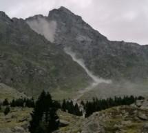 Steinschlag am Huber-Steig