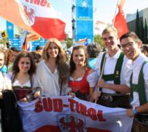 Tiroler Fahne in Barcelona