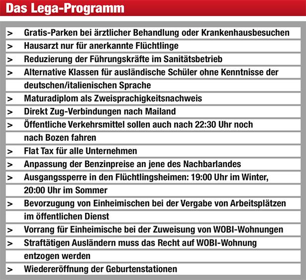 Der Lega Zug Die Neue Südtiroler Tageszeitung