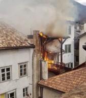 Brand im Zentrum