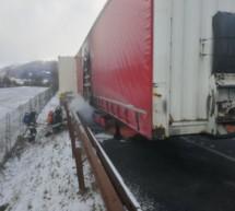 Lkw-Brand auf der Autobahn