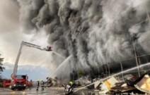 Großbrand in Burgstall