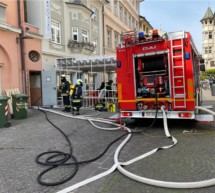 Brand im Stadthotel