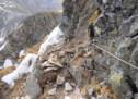 Gesperrter Klettersteig