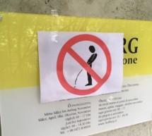Pinkeln verboten