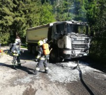 Lkw ausgebrannt
