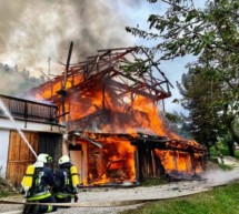 Brennendes Futterhaus