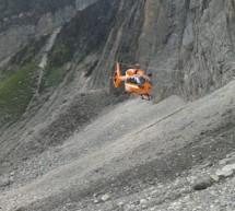 Verletzter Bergsteiger