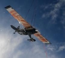 Abgeschlepptes Flugzeug