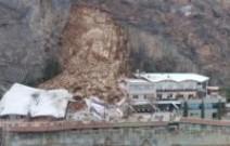 Felssturz zerstört Hotel Eberle