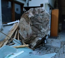 Steinschlag in Auer