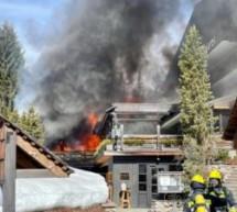 Hotel in Flammen