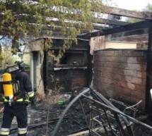 Dachterrasse in Flammen