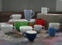 Einfarbige Tassen