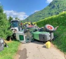 Crash mit Traktoren