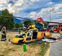 Hubschrauber in Trient abgestürzt