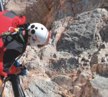 Kletterer in Not
