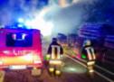 Großbrand in Sägewerk