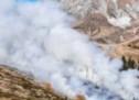 Buschbrand oberhalb von Hafling