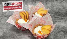 Müsli-Pfirsich-Muffins
